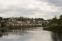 Nidelvarivier van Trondheim Royalty-vrije Stock Afbeeldingen