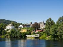 Nidelven in Trondheim, Noorwegen Royalty-vrije Stock Afbeelding