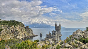 Nido del sorso S del castello vicino a Jalta in Crimea fotografia stock