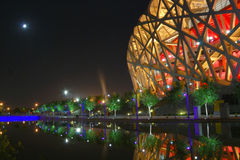 Nido dell'uccello (lo stadio nazionale di Pechino) Immagini Stock