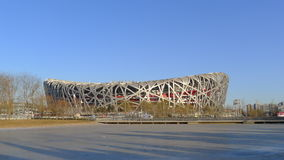 Nido dell'uccello nazionale dello stadio di Pechino Fotografie Stock Libere da Diritti