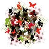 Nido della farfalla Fotografie Stock
