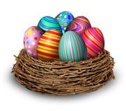 Nido delle uova di Pasqua Fotografia Stock Libera da Diritti