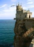 Nido dello Swallow del castello, Crimea Fotografie Stock Libere da Diritti