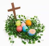 Nido di Pasqua Fotografie Stock Libere da Diritti