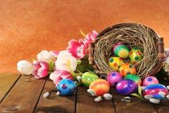 Nido di Pasqua Fotografia Stock Libera da Diritti