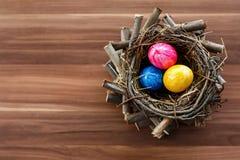 Nido di Pasqua immagini stock libere da diritti