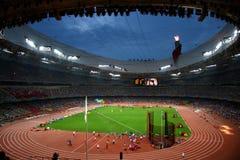 Nido olimpico dell'uccello dello stadio di Pechino Fotografia Stock