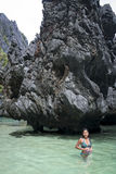 nido palawan philippines för el-karstlagun Royaltyfri Fotografi