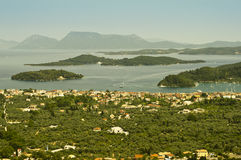 Nidri, Ελλάδα και νησιά Στοκ εικόνες με δικαίωμα ελεύθερης χρήσης