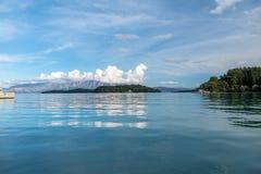 Nidri auf Lefkada-Insel stockfotografie