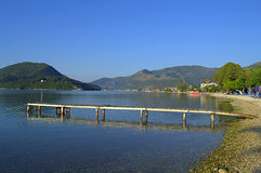 Nidri bay jetty, Lefkada island Royalty Free Stock Images