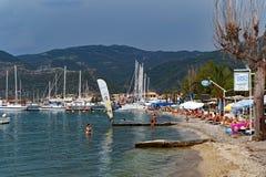 Nidri Beach, Lefkada Greek Island Stock Photo