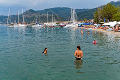Nidri Beach, Lefkada Greek Island Royalty Free Stock Images