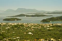 Nidri, Grekland och öar Royaltyfria Bilder