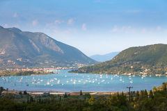 Nidri in Lefkada island, Greece Royalty Free Stock Photos
