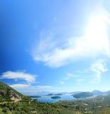 Nidri on Lefkas island Greece Royalty Free Stock Photos