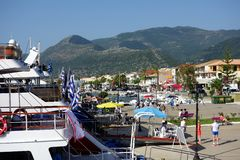 Nidri Port, Lefkada, Greece Royalty Free Stock Images