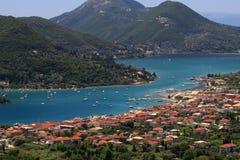Nidri sur l'île de Lefkada Image libre de droits