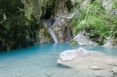 Nidri-Wasserfälle auf Lefkas-Insel lizenzfreies stockbild