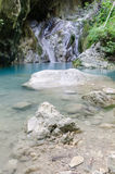 Nidri waterfalls on Lefkada island Stock Photo