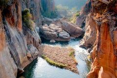 Nids de poule de chance de Bourkes dans Mpumalanga Afrique du Sud près de canyon de rivière de Blyde image libre de droits