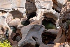 Nids de poule de la chance de Bourke, canyon de rivière de Blyde près de Graskop, Mpumalanga, Afrique du Sud Pièce de forme de l' image libre de droits