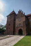 Nidzica Castle in Poland. Brick Castle in Nidzica in Poland Royalty Free Stock Images