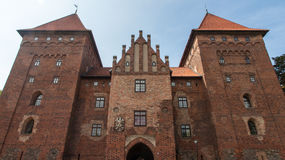 Nidzica Castle in Poland. Brick Castle in Nidzica in Poland Royalty Free Stock Image