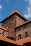 Nidzica Castle in Poland. Brick Castle in Nidzica in Poland stock photo
