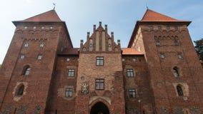 Nidzica kasztel w Polska Obraz Royalty Free
