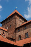 Nidzica-Schloss in Polen stockfoto