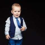 Nieśmiała śliczna biznesowa chłopiec Obraz Stock