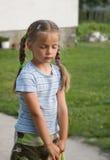 nieśmiała dziewczyno Zdjęcia Royalty Free