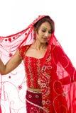Nieśmiała Indiańska młoda kobieta zdjęcia royalty free