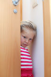 Nieśmiała mała dziewczynka Fotografia Royalty Free