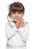 Nieśmiała preschool dziewczyna Fotografia Royalty Free