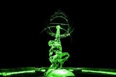 Nieśmiertelna Kuafu lodowej rzeźby zieleń obraz royalty free