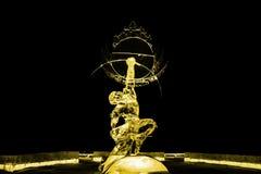 Nieśmiertelny Kuafu lodowej rzeźby kolor żółty zdjęcie royalty free