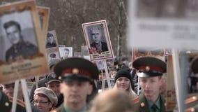 Nieśmiertelny pułk Korowód ku pamięci nieżywych bohaterów Drugi wojna światowa zdjęcie wideo