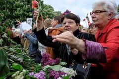 Nieśmiertelny pułku marsz w Kijów Obraz Stock