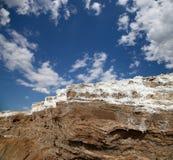Nieżywego morza sól przy Jordania Obrazy Royalty Free