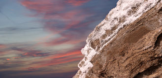 Nieżywego morza sól przy Jordania Zdjęcie Stock