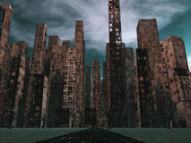 Nieżywy miasto Zdjęcie Stock