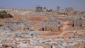 Nieżywy miasto Serjilla. Syria fotografia royalty free