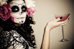 nieżywy napój Halloween ma żywej kobiety Fotografia Stock
