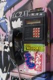 Nie do użytku jawny payphone zdjęcia royalty free