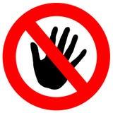 nie dotykaj Zdjęcia Stock