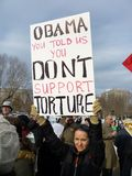 nie no wspiera tortury Obraz Stock