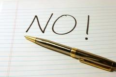 nie notepad długopisy słowo Zdjęcia Royalty Free